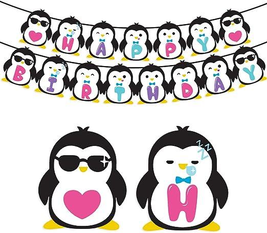 Kreatwow Suministros para Fiestas de cumpleaños de pingüinos ...