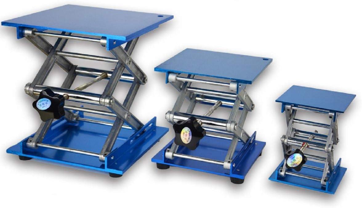 6X6 Lab Jack Stand Table Lift Laboratory Lift Aluminium Oxide Lab Stand Lifter Scientific Scissor Lifting Jack Platform