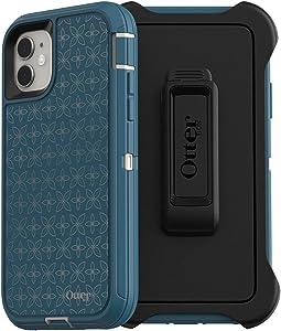 OtterBox DEFENDER SERIES SCREENLESS EDITION Case for iPhone 11 - PETAL PUSHER (PALE BEIGE/CORSAIR/PETAL PUSHER IML)