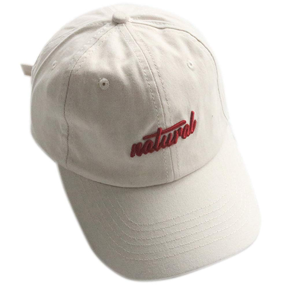 Baseball Men and Women Spring and Summer Letters Fresh and Casual Wild Cap Color : White