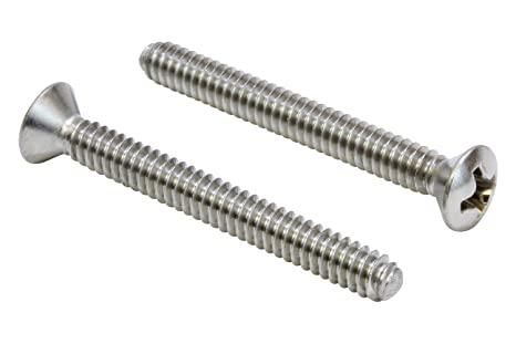Stainless Steel Machine Screws Phillips Oval Head Screw #8-32 x 2-1//2 Qty 50