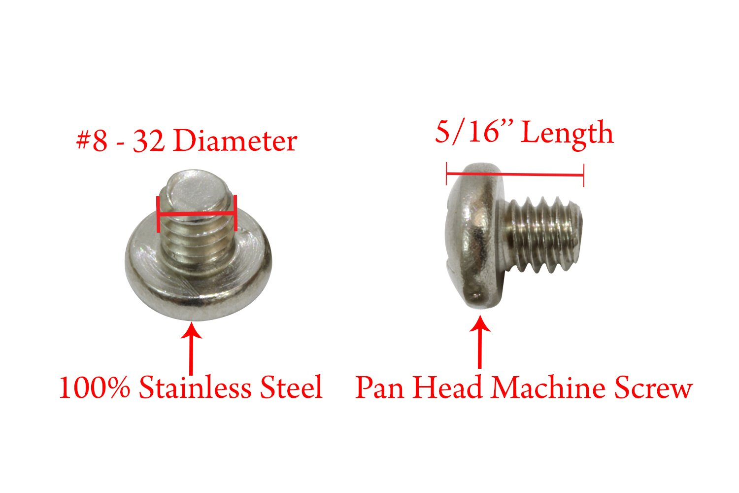 Chamfered Shoulder 125 pcs Style 2 Stainless Steel Knurled High Head Slotted Drive Long Dog Cone Point Captive Panel Screws #4-40 X 7//16