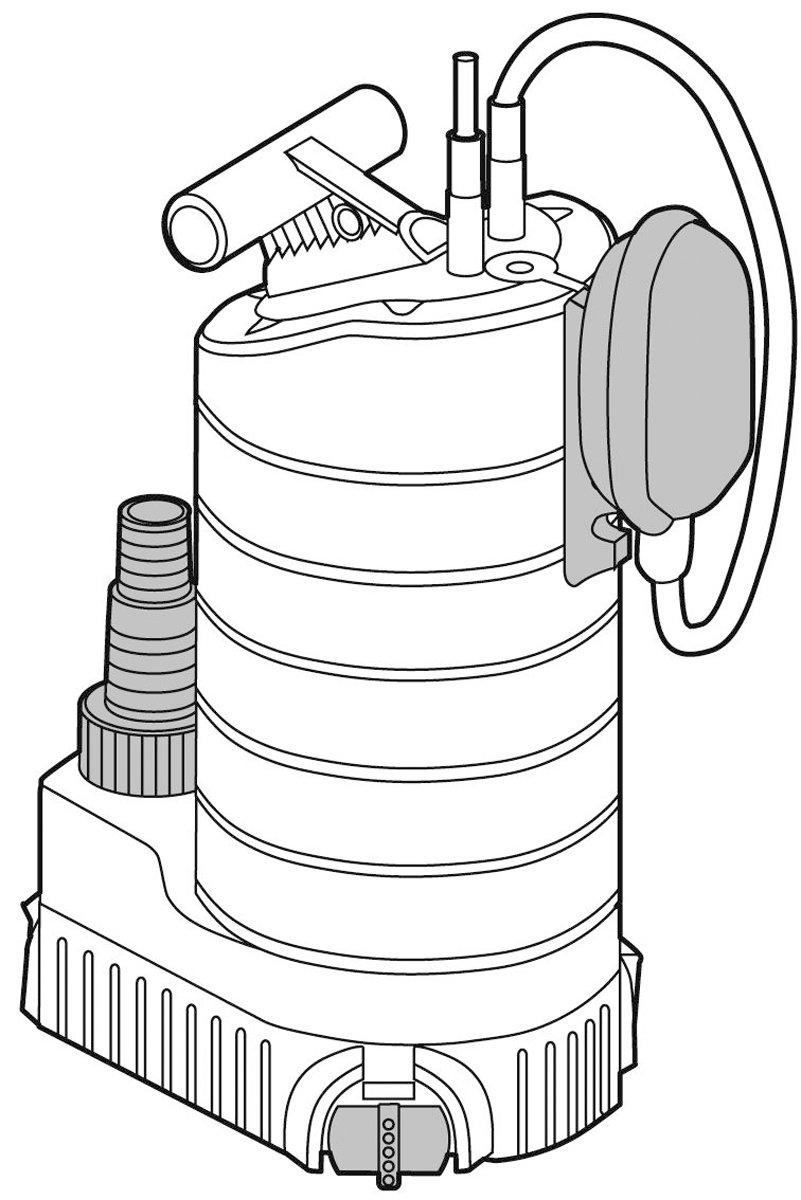 ... de GARDENA: bomba de aguas limpias, caudal 21 000 l/h, motor silencioso y sin mantenimiento de 1000 W, interruptor de flotador,y cable de conexión de 10 ...