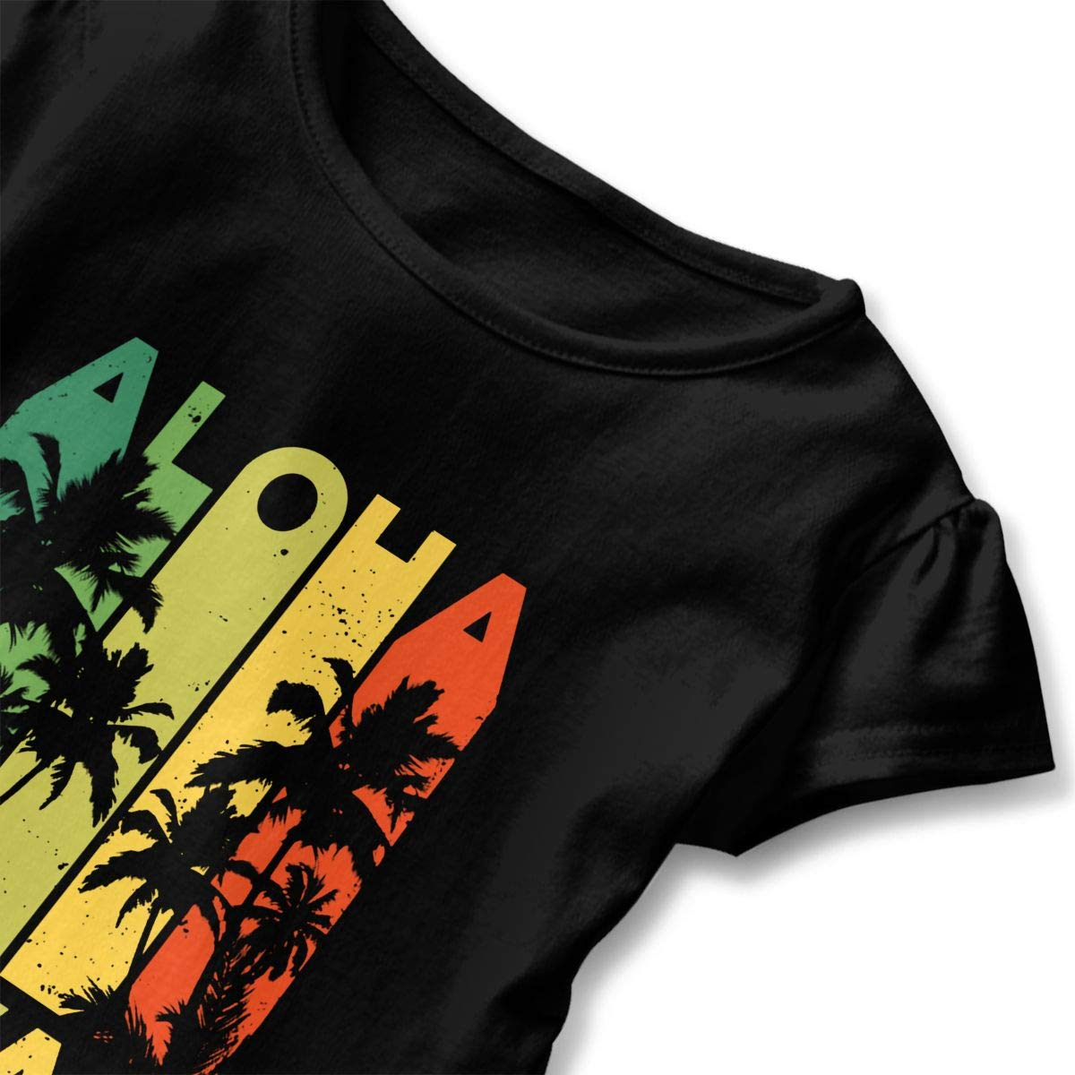 Aloha Hawaii Baby Girls Crew Neck T-Shirt Clothes