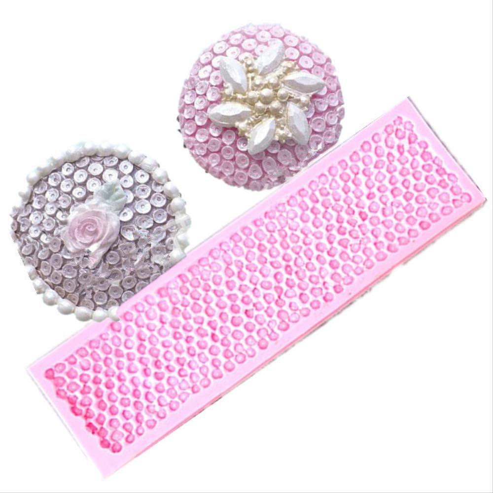 1 unid Forma de collar de perlas Molde de pastel de silicona Molde de encaje 3d Molde de jabón de chocolate Fondant Herramientas de decoración de pasteles