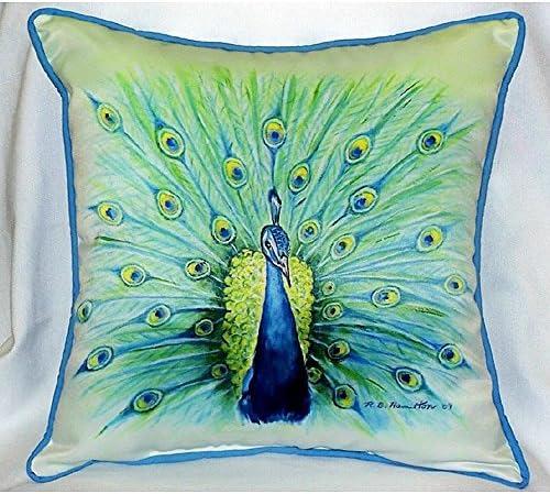 Betsy Drake HJ758 Peacock Art Only Pillow 18 x18