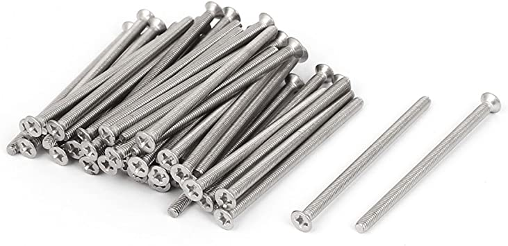 uxcell M3x50mm Phillips Flat Countersunk Head Machine Screws 50pcs a15123100ux0424