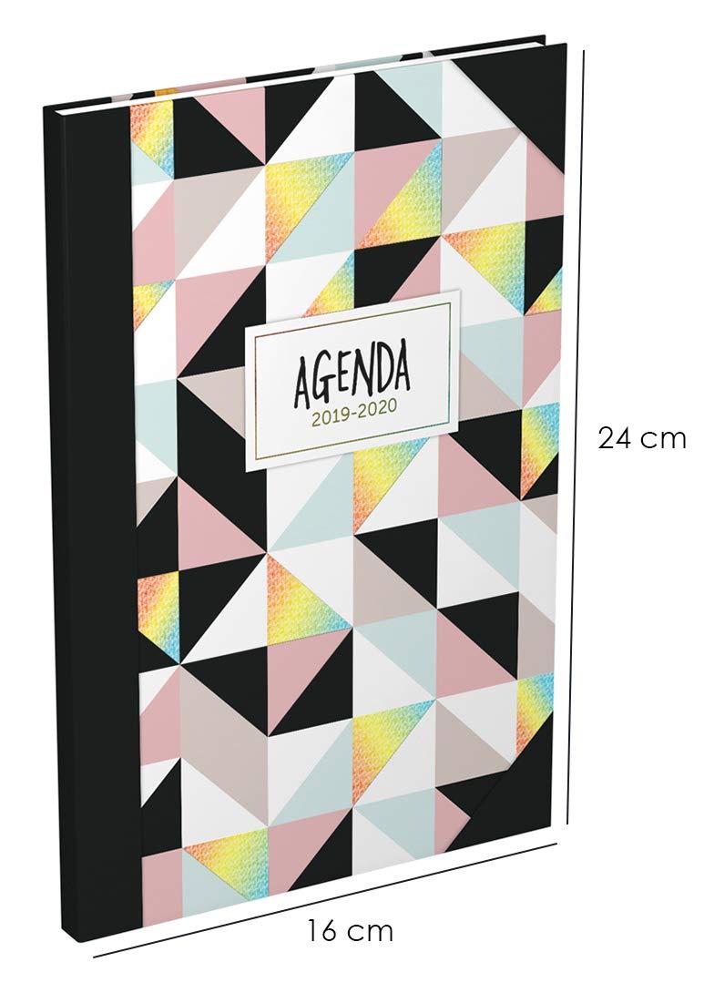 /à Ao/ût 1 Semaine sur 2 Pages Format 16x24cm Couverture Motifs Ananas Lecas Millenium Agenda Semainier 2019-2020 de Sept