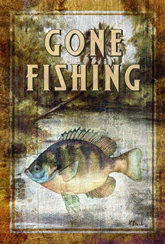 Toland Home Garden Bluegill Fishing 12.5 x 18-Inch Decora...