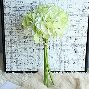 Fine Hydrangea Peony Bouquet Artificial Silk Fake Flowers Peony Floral Wedding Bouquet Bridal Hydrangea Decor 72
