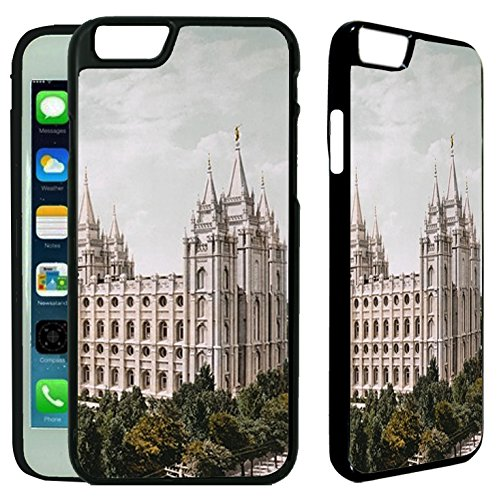 [TeleSkins] - iPhone 6 / iPhone 6S Designer Plastic Case - Salt Lake LDS Mormon Temple - Ultra Durable Slim & HARD PLASTIC Highly Protective Vibrant Snap On Designer Back Case / Cover (Plastic Temples)