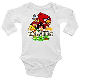 985b594b9006 Amazon.com  Angry Birds Long Sleeve Unisex Onesie (12-18)  Baby
