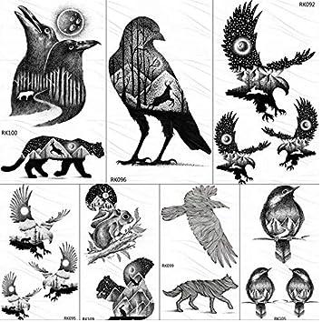 Tatuajes Temporales Niños Piratas Eagle Bird Montaña Bosque ...