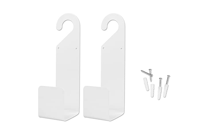 Hanging Garden Hose Holders Set of 2 - Wall Mounted Watering Hose Holders - Heavy Duty Portable Irrigation Hose Mounts - Garden Hose Hangers - Mounting Hardware Included