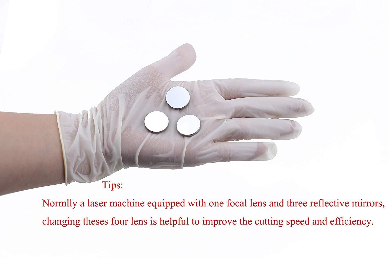 SenTECH 3 pcs Diam 25mm Espejos Reflectantes de Silicio para M/áquina de Corte o Grabado por L/áser