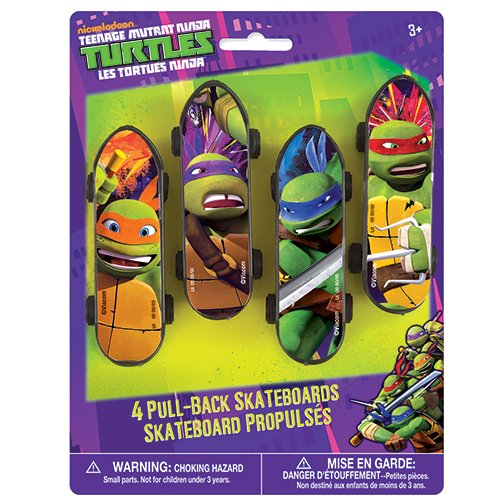 Mini Teenage Mutant Ninja Turtles Skateboard Party Favors, 4ct -