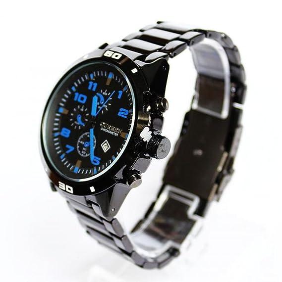 Beauty regalo 2014 nuevo Fshion reloj hombres marca de lujo famoso Casual encanto Acero Elegante Full