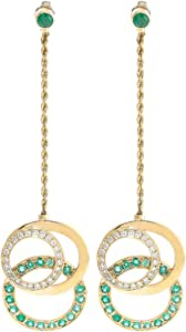 EW Jewellery House Women's Gold Earring, 89 mm
