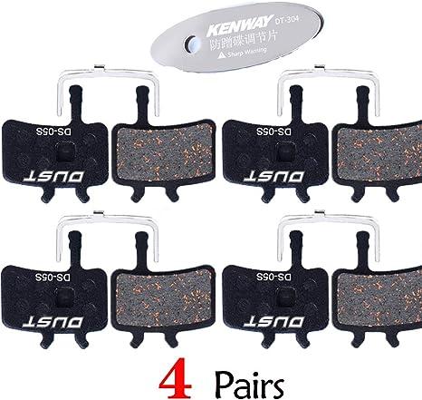 Generies 4 Pairs Bike Brake Pads Wear Resistant High Temperature Resistant Disc Brake Pads for Bicycle Parts