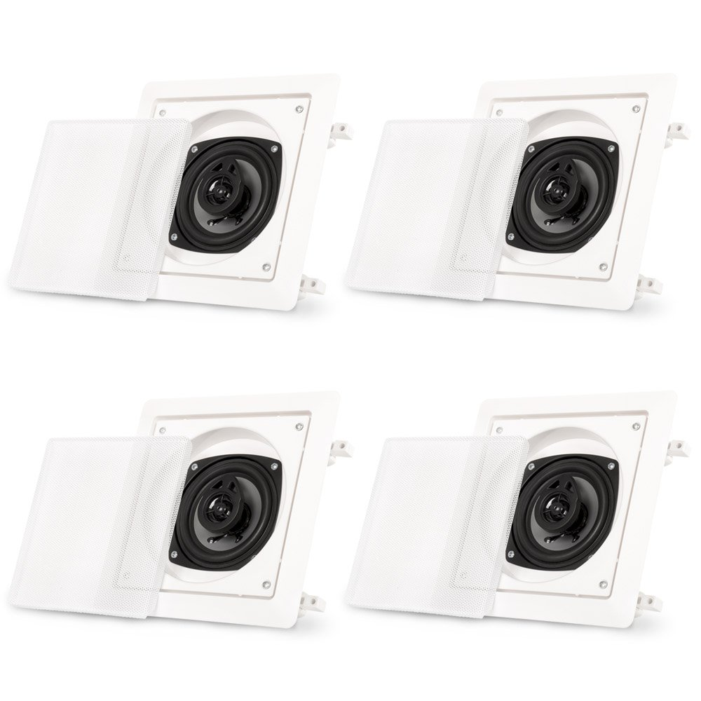 Acoustic Audio CS-I42S-2PR 150 Watt 4'' 2-Way Home Theater In-Wall/Ceiling Speakers (2-Pair) by Acoustic Audio by Goldwood