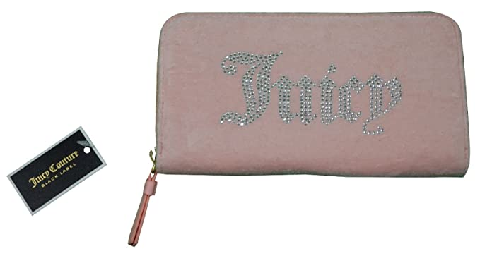 80010a8203e Juicy Couture Black Label Wallet Pink Velour Zip Around Clutch ...