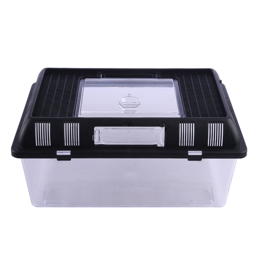 Petforu Breeding Box Reptile Carrier Terrarium Crawler Jar Portable Feeder