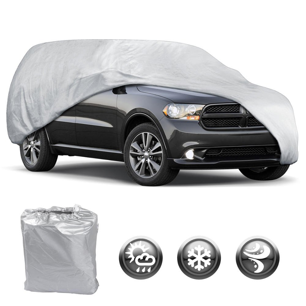 Water Resistant Car Cover Size XL3-Fits up to 225-Inch Motor Trend OV-543 All Season Weather Wear 1-Poly Layer Snow Proof