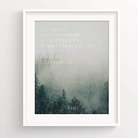 Amazon Com Urbandecal Rumi Print Forest Fog Quote Home Wall