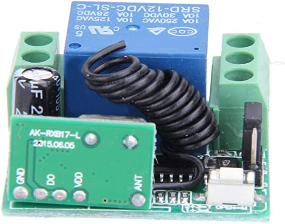 Dergtgh Universal Wireless Switch Remote Control DC12V 10A 433MHz /émetteur-r/écepteur RF Relais de Commande