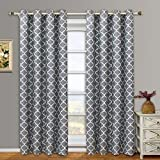 Set of 2 Panels 104Wx96L -Royal Tradition - Meridian - Grey- Thermal Insulated Blackout Curtain, 52-Inch by 96-Inch each Panel. Package contains set of 2 panels 96 inch long. by Royal Tradition