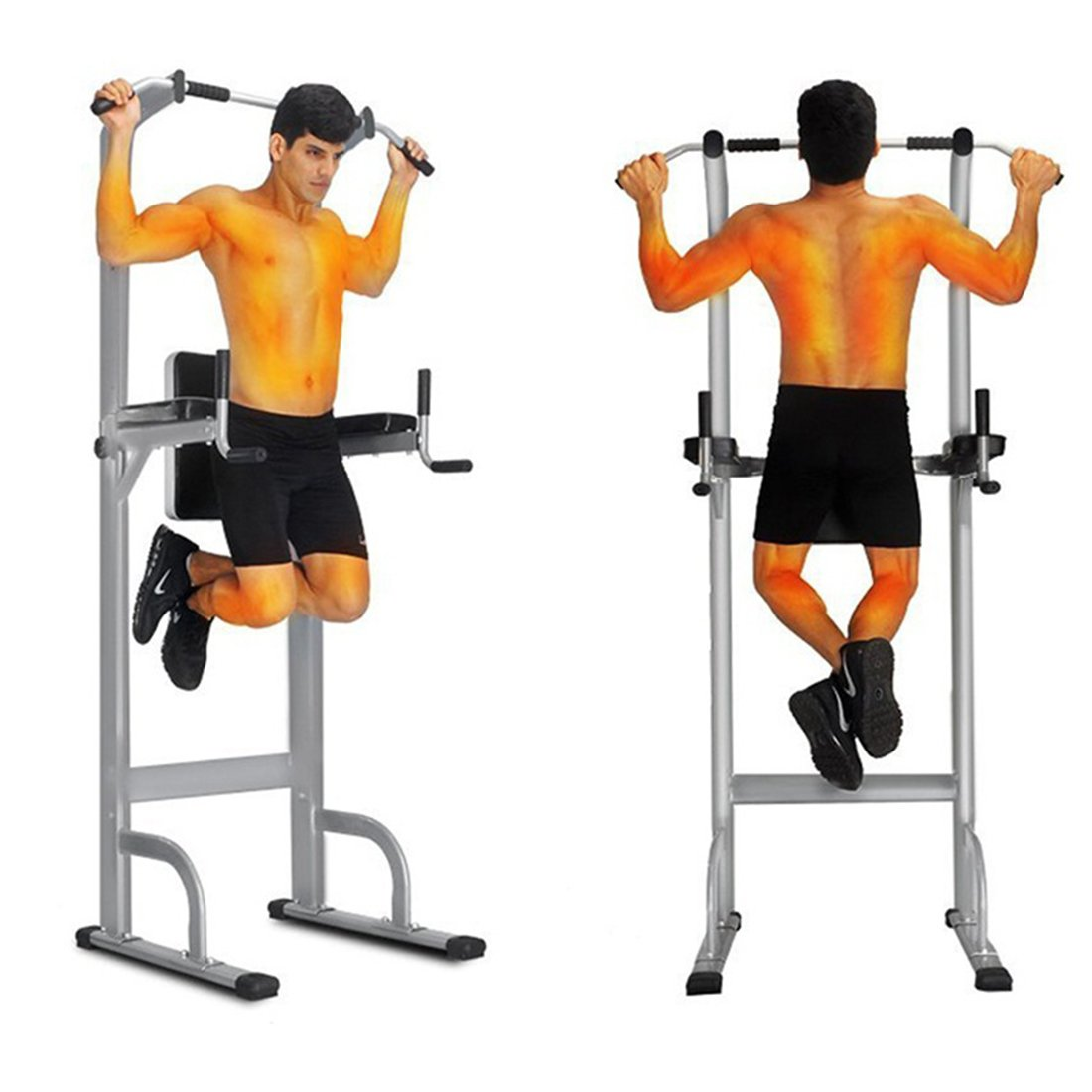 Sports Dip Stands Home Gyms Exercise & Fitness Exercise Equipment Pull-Up Bars Muscle Strength Training Equipments Power Tower Ups Bar Dip Stands by Unknown