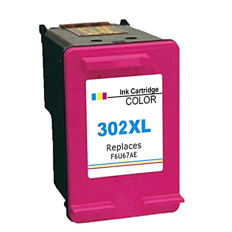 Ksera Remanufacturado HP 302 XL Cartucho de Tinta, HP 302 Cartuchos de Impresora de Alto Rendimiento 1-Color (F6U67AE) Compatible con HP ...