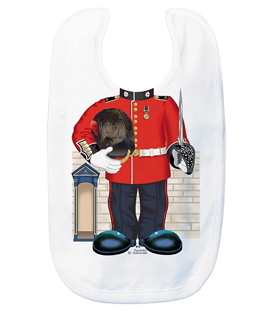 Just Add A Kid Baby Boy's Guardsman UK 815 Baby Bib 0-6 Months White