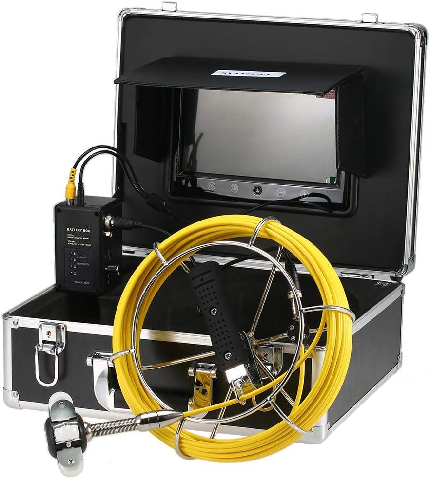 Lixada Endoscopio Kit de Cámara de Inspección de Tuberías de WP70B-WiFi 20/30/40M con Batería 4500mAh Impermeable IP68 Video Cámara 7 Pantalla LCD Visión Nocturna Sin DVR