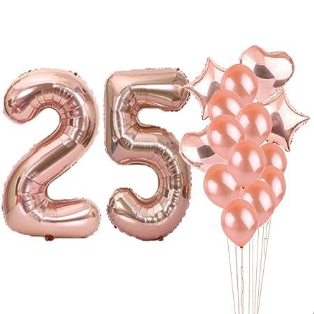 25 cumpleaños decoraciones suministros de fiesta, 25 ...