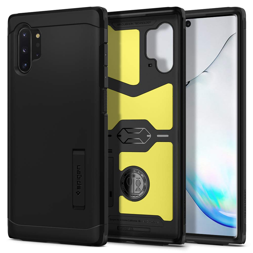 Funda Spigen Tough Armor Para Samsung Note 10 Plus Negra