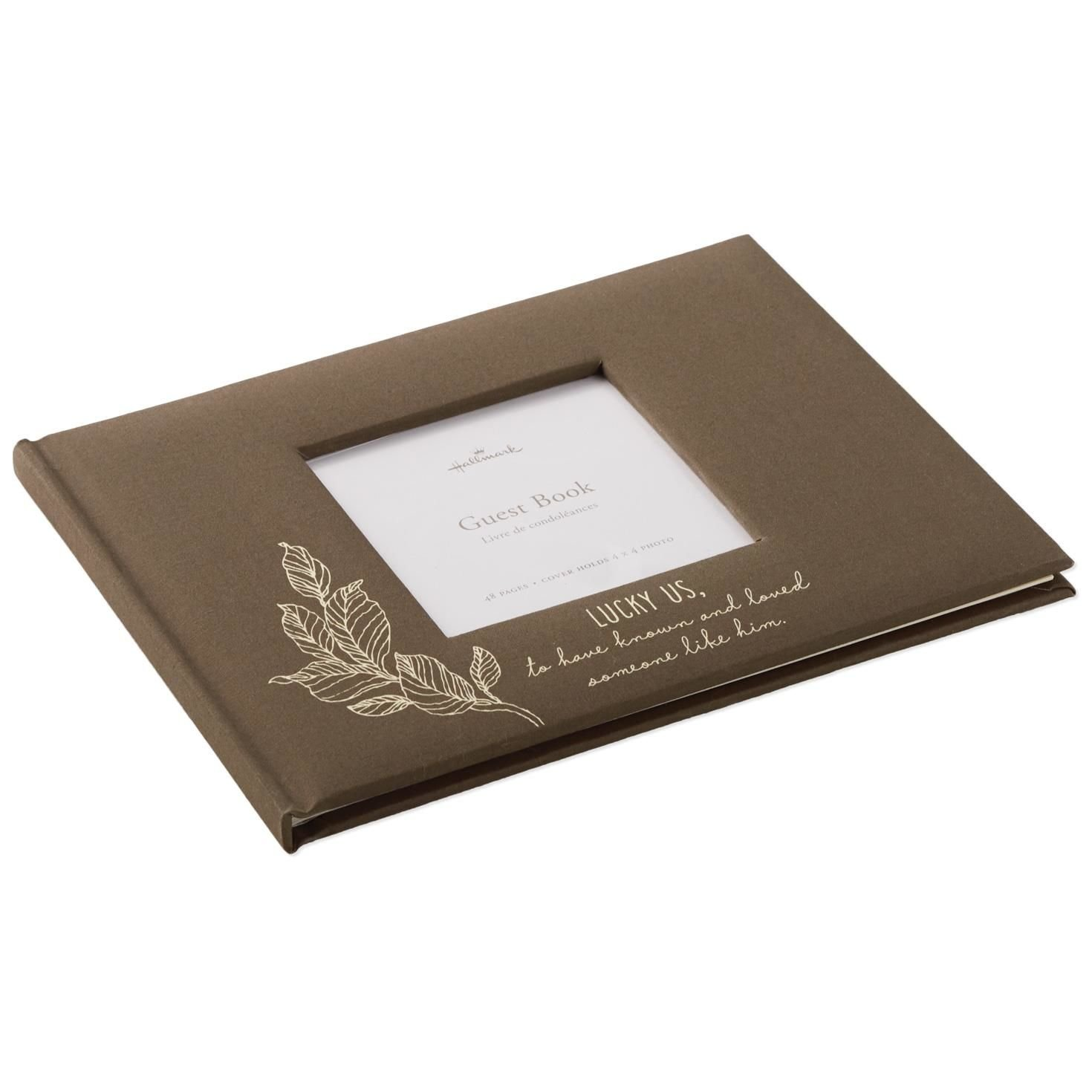 Hallmark Someone Like Him Memorial Guest Book