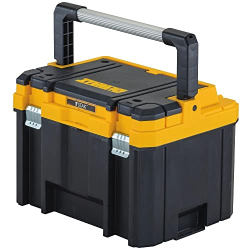 Dewalt has many great toolboxes, this one stands out because of its deep storage capacity and the long handle that makes it sturdy and user-friendly.