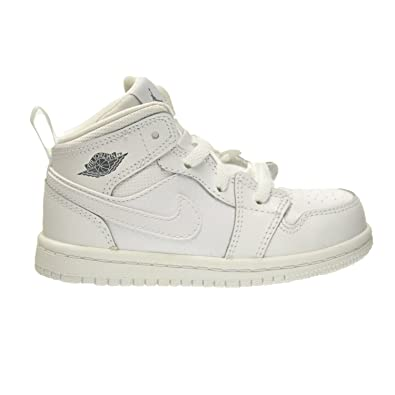 61f2df5f38 Amazon.com   Air Jordan 1 Mid BT Baby Toddler Shoes White/Cool Grey ...