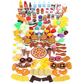 9eaab7e84d1f Mommy Please Play Food Set for Kids - Huge 202 Piece Pretend Food Toys is  Perfect for Kitchen Sets and Play Food Kitchen Toys - Inspire Your Toddlers  ...