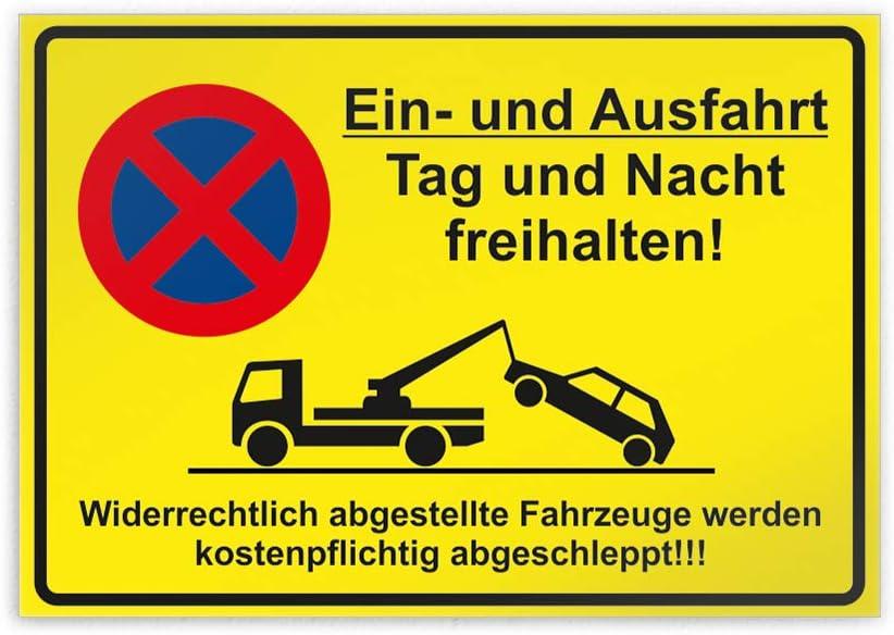 Kiwistar EIN und Ausfahrt Tag und Nacht freihalten Parkplatzschild Aufkleber 30 x 21cm