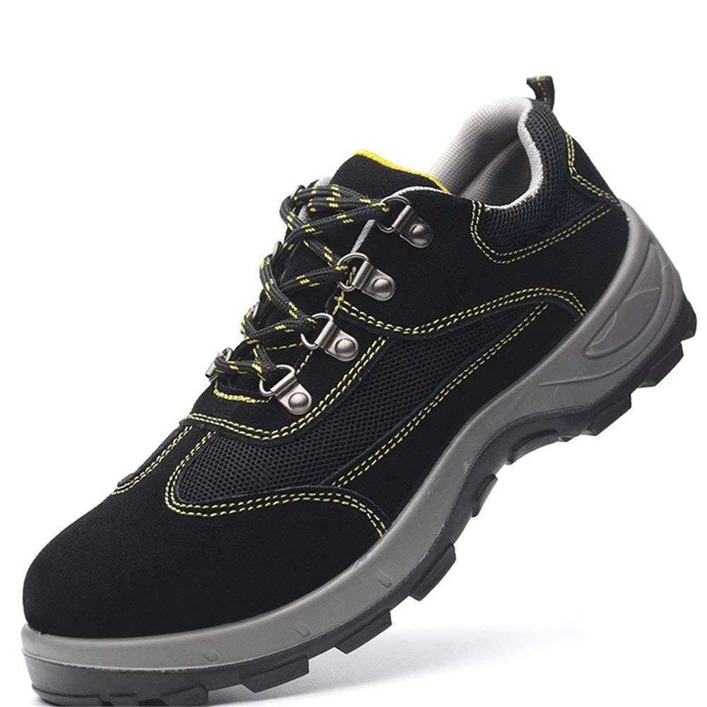 Ywqwdae Chaussures de sécurité Anti-statiques résistantes Noir, à la Punture (coloré : Noir, résistantes Taille : EU 45) EU 45|Noir 0a2865