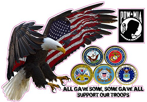 Support Our Troops All Gave Some, Some Gave All Decal 6