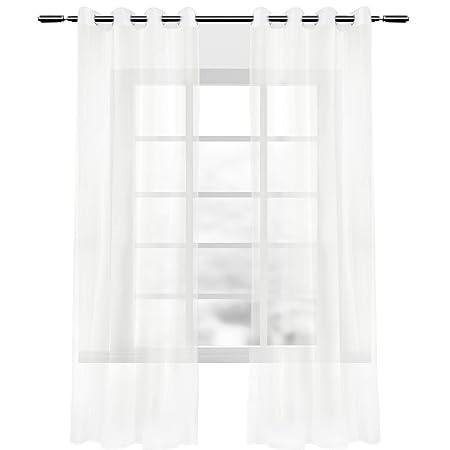 Amazon De Woltu Vh5513cm 2 A 2er Set Gardinen Vorhange Transparent