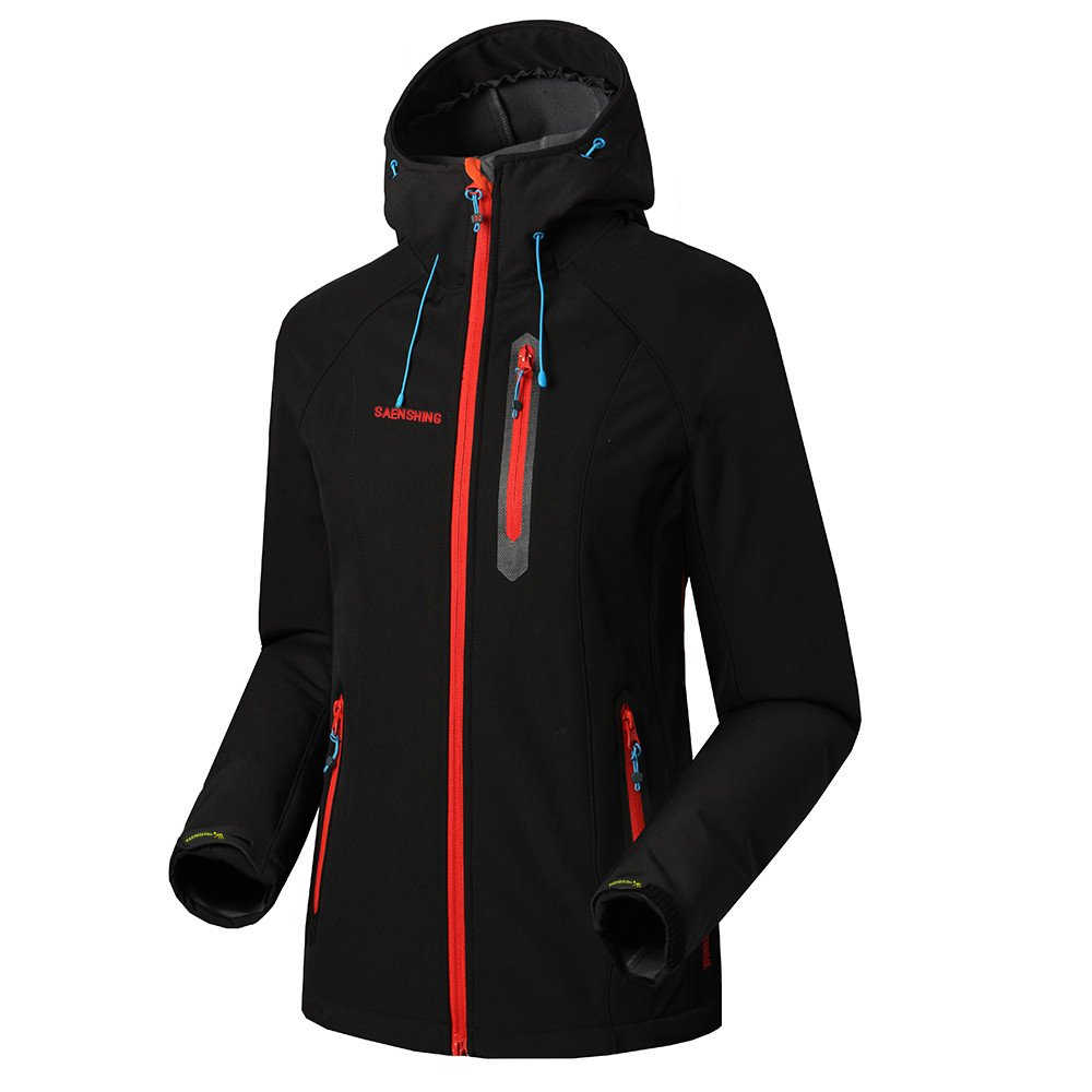 75f69275b Amazon.com: SAENSHING Women's Waterproof Softshell Jacket Outdoor Raincoat  Camping Hiking Mountaineering Jackets: Clothing