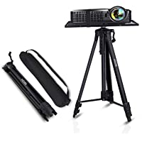 Projector Stand,Laptop Stand,Aluminum Multifunction Tripod Stand with Tray Adjustable Tripod Laptop Projector Stand, 17…