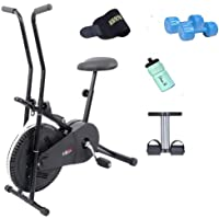 Lifeline Exercise Cycle 102 with, Sweat Belt, Tummy Trimmer, Sipper Bottle and Pair of 2 kg PVC Dumbbells
