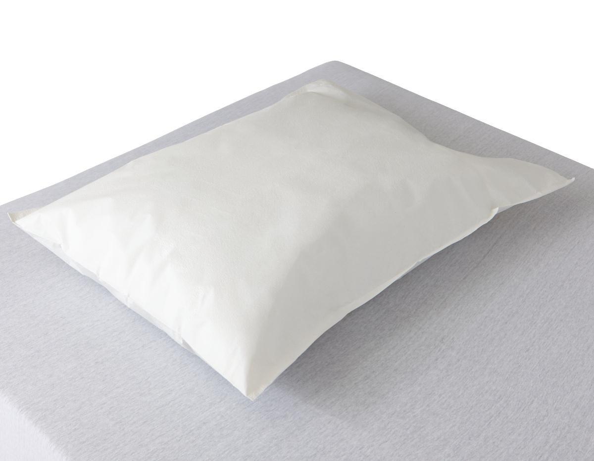 "Medline NON24345 Disposable Tissue/Poly Pillowcases, 21""x30"", White (Case of 100)"