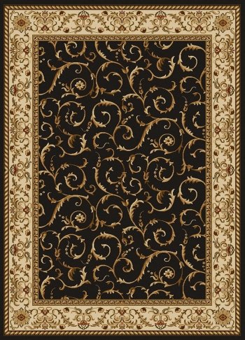 Radici 1599 COMO Rugs, 8-Feet -Feet, Brown (Diam Carpet)