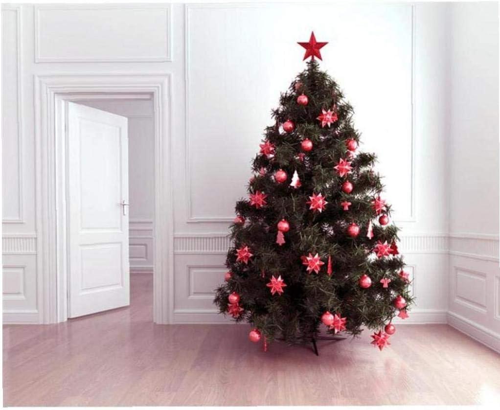 BYFRI 4.5 Inch Treasures Red Glittered Mini Star Christmas Tree Topper